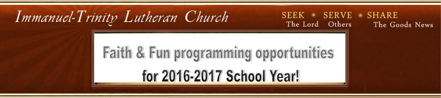 Programs Christian Ed