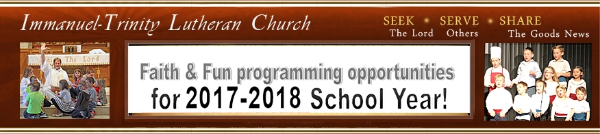 Programs Christian Ed 2017-2018