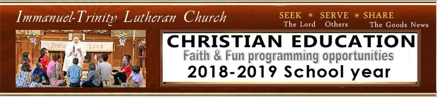 Programs Christian Ed  2018-2019