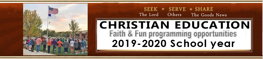 Programs Christian Ed  2019-2020