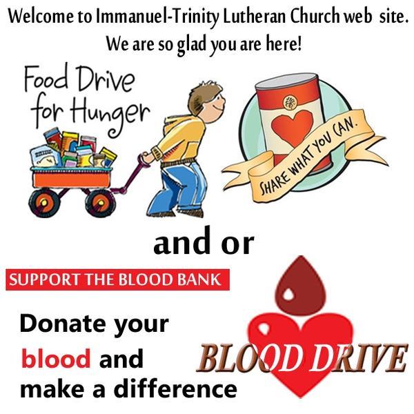 Food Drive/ Blood Drive
