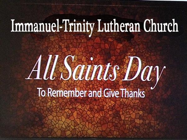 SATURDAY WORSHIP  & ALL SAINTS FESTIVAL